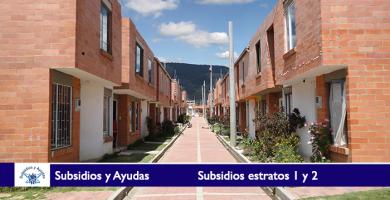 Subsidios estratos 1 y 2