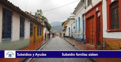Subsidio familias sisben
